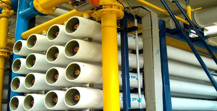 宁波慈溪航丰自来水厂应用沁森高科反渗透膜元件