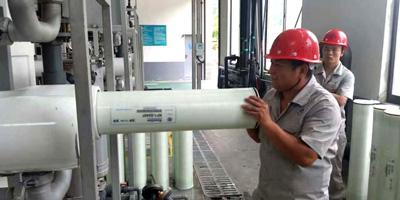 沁森高科为长沙市固废处理厂生活垃圾渗滤液系统换膜