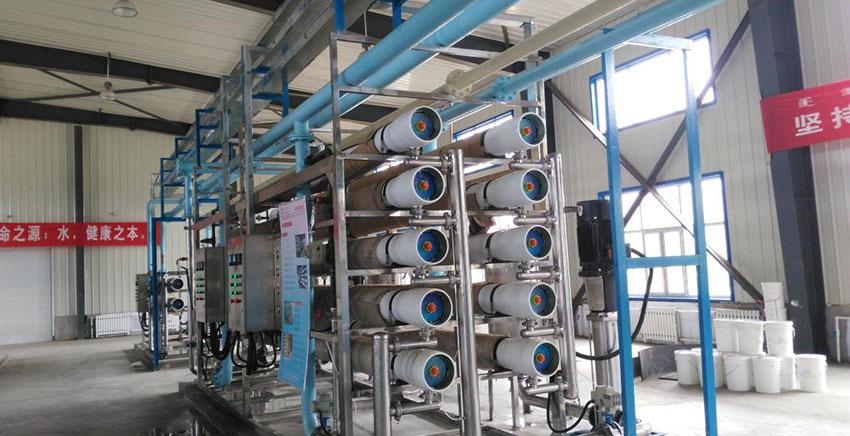 内蒙古正镶白旗安图镇旧区集中供水水厂选配苦咸水膜元件