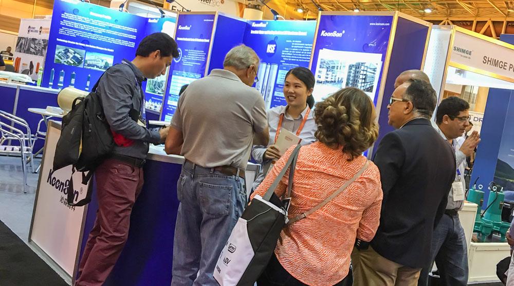 沁森高科携明星反渗透膜和纳滤膜产品参加2018美国水展WEFTEC