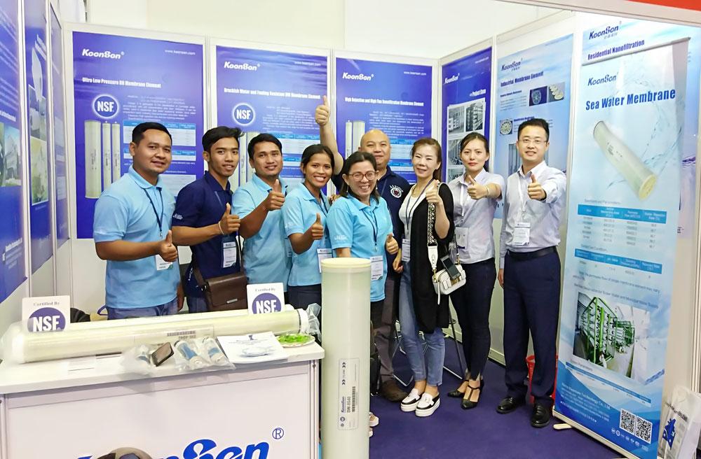 沁森高科明星反渗透膜和纳滤膜产品惊艳亮相2018越南水展VIETWATER