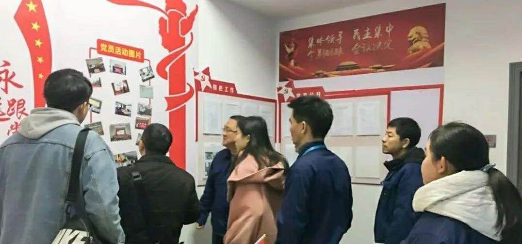 长沙高新区党群局杨峥嵘副局长一行莅临沁森高科验收党建阵地